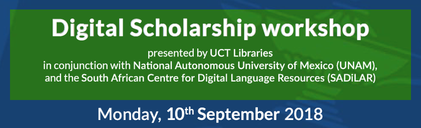 Digital Scholarship workshop at UCT Libraries
