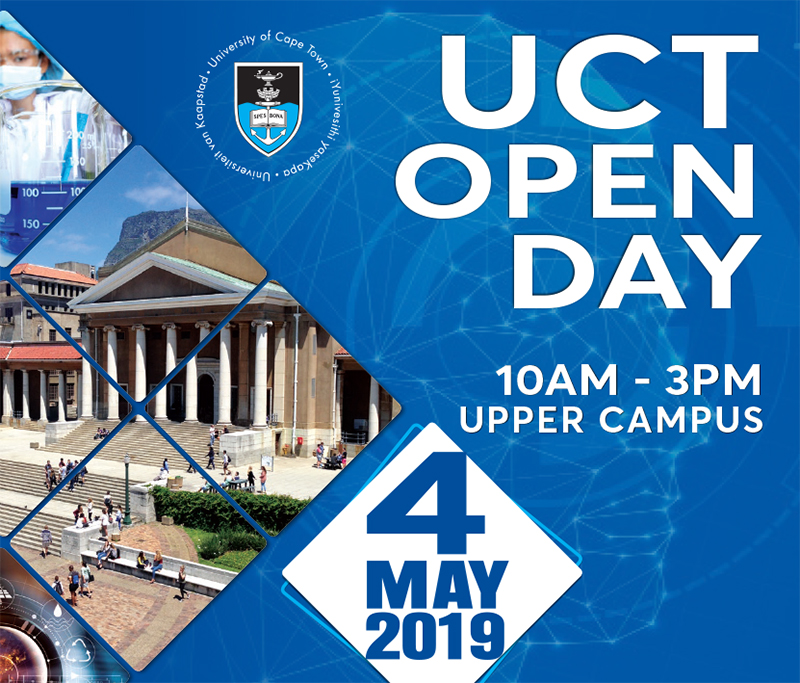UCT Open Day 2019 banner