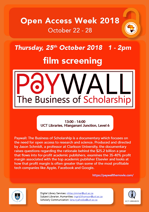 Open Access Week - Paywall: The Business of Scholarship