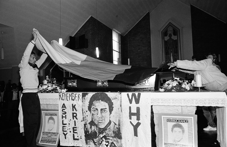 Funeral of Ashley Kriel, Bonteheuwel, Cape Town, 1987