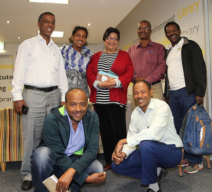 Libraries ED Ujala Satgoor with delegates from Bahir Dar University Ethiopia