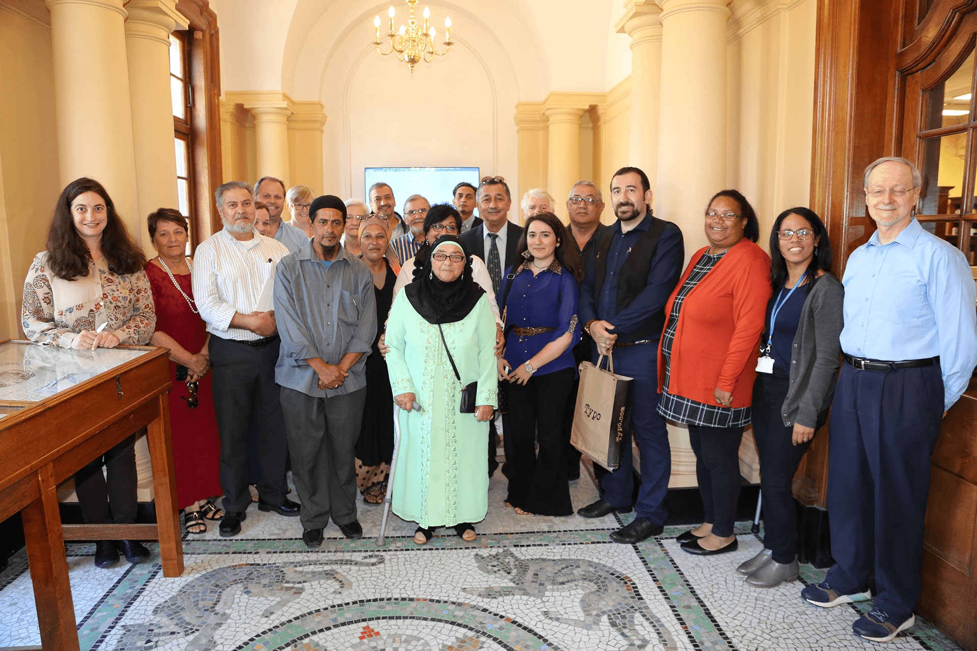 Guests and staff at launch of Ottoman traces in UCT Libraries Special Collections