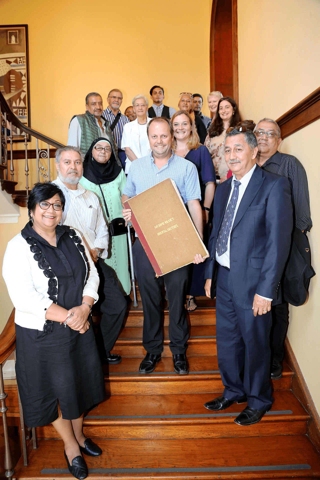 Group photo of guests and staff at the launch of Ottoman traces in UCT Libraries Special Collections