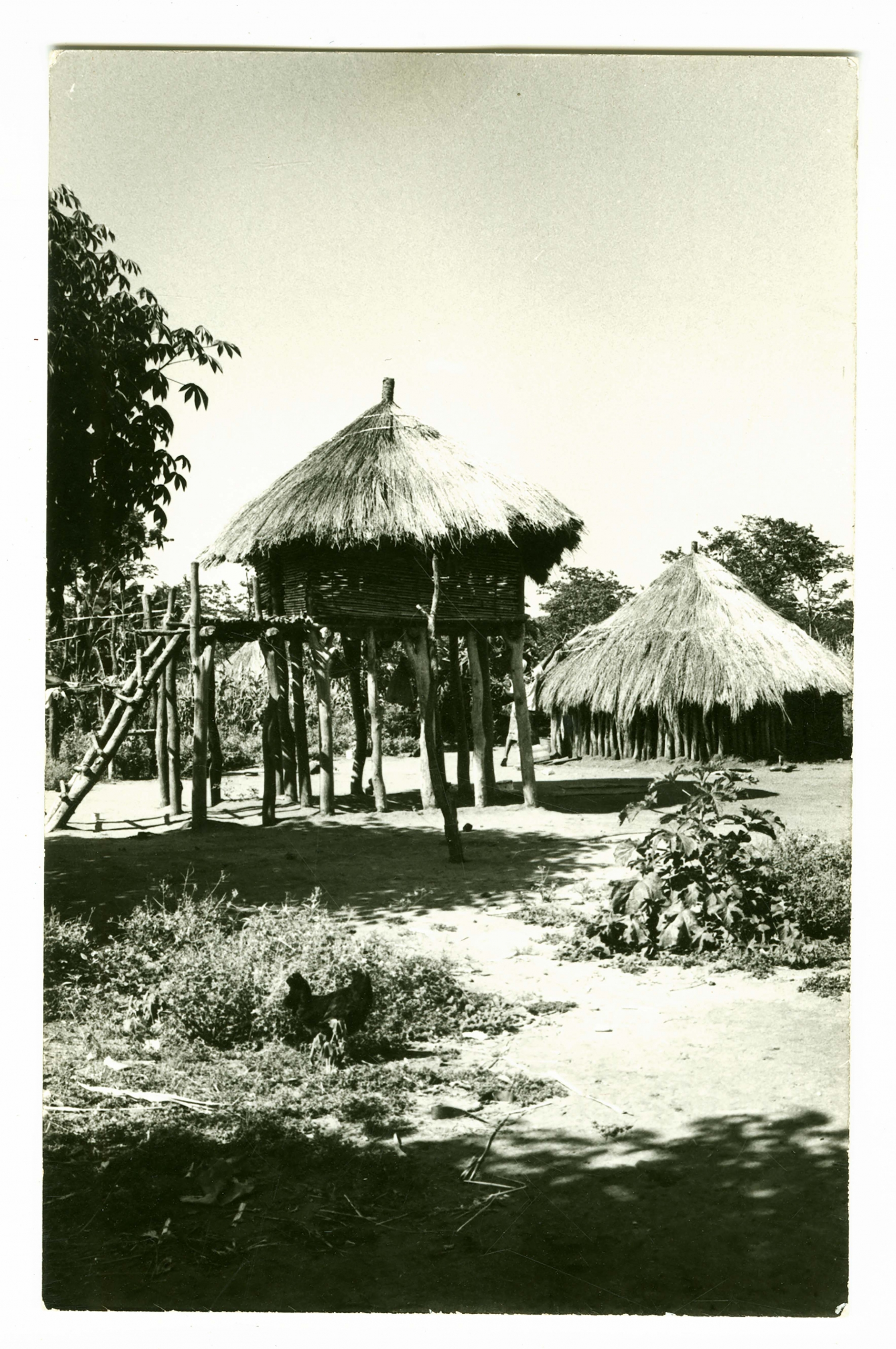 A traditional hut on stilts