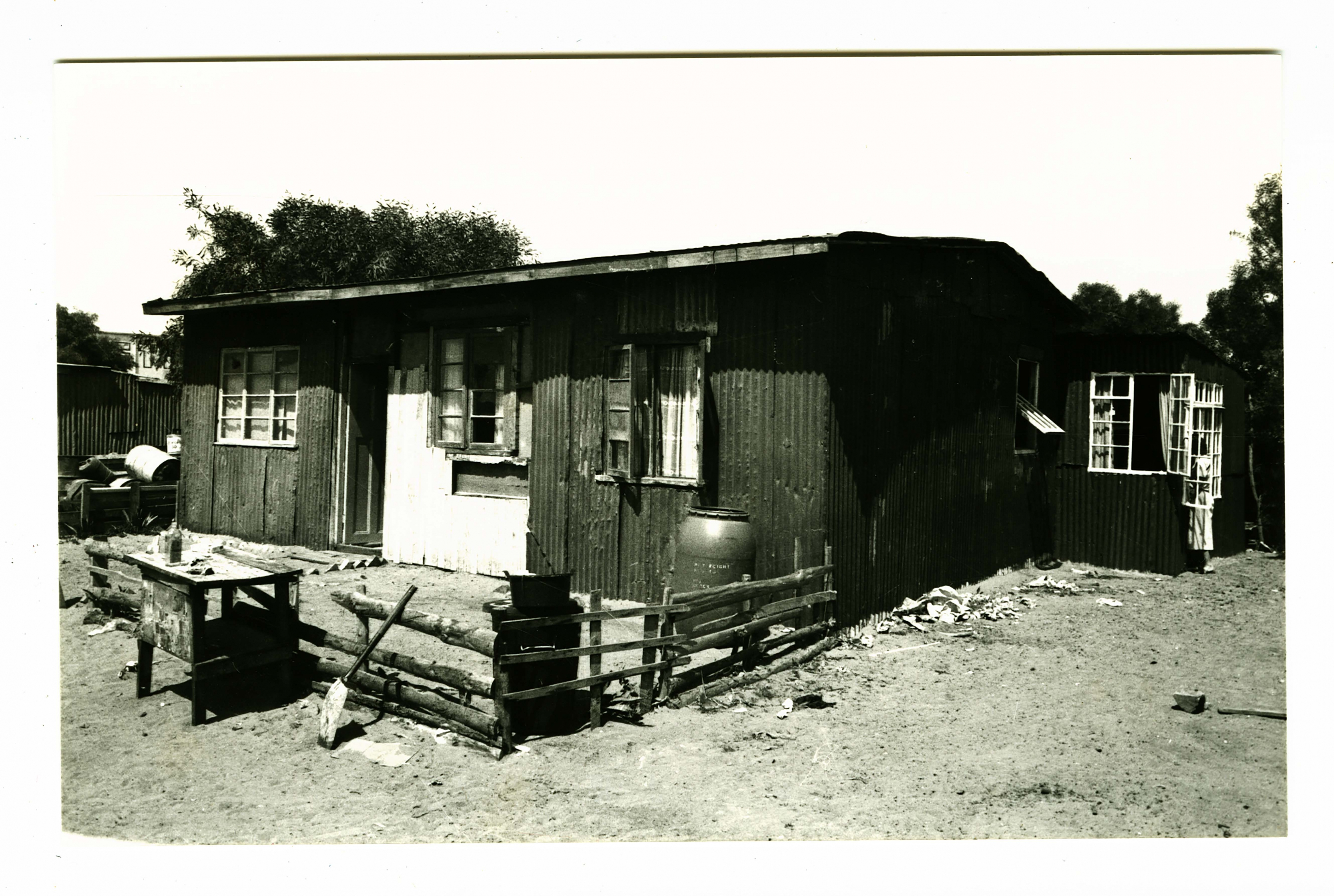 The shack with added room that Pamela Reynolds lived in while working in Crossroads informal settlement