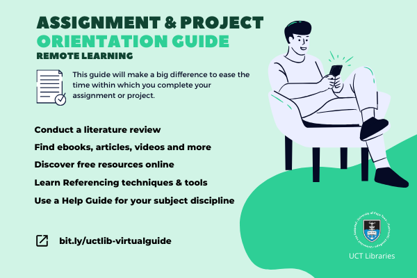 assignment & project orientation guide for remote learning poster