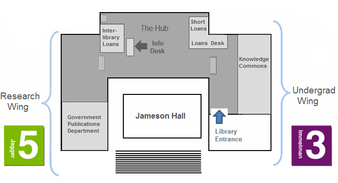 Upper Campus Map of Libraries